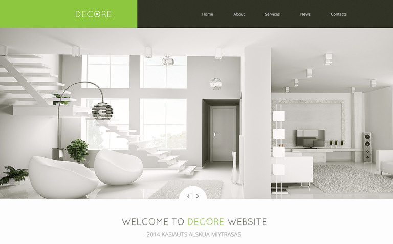 Home Decor Responsive Website Template #46692