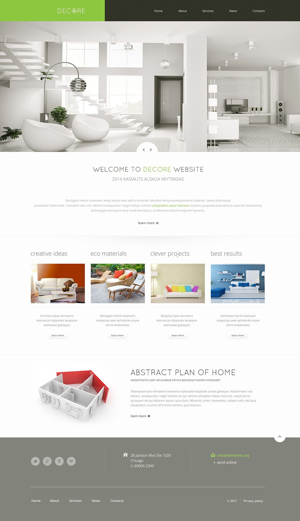 Beau Home Decor Responsive Website Template New Screenshots BIG