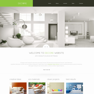 Home Design Websites Of Home Decor Website Templates Templatemonster