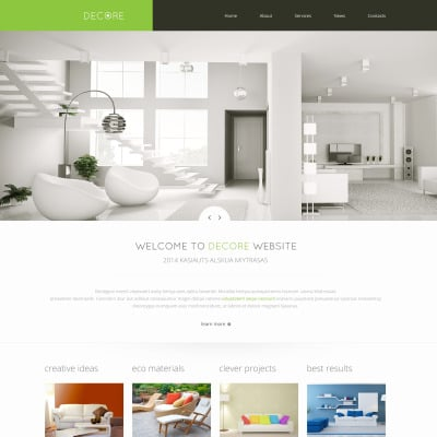 Home decor website templates templatemonster for Home design websites