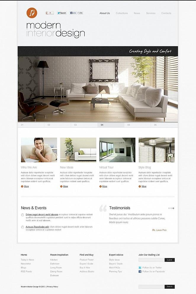 Interior & Furniture Flash CMS Template New Screenshots BIG