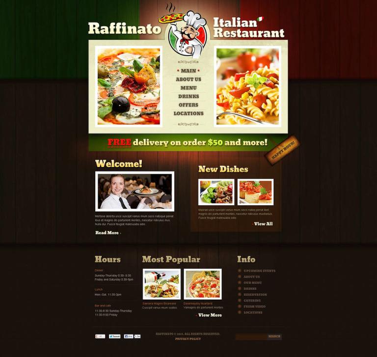 Italian Restaurant Flash CMS Template New Screenshots BIG