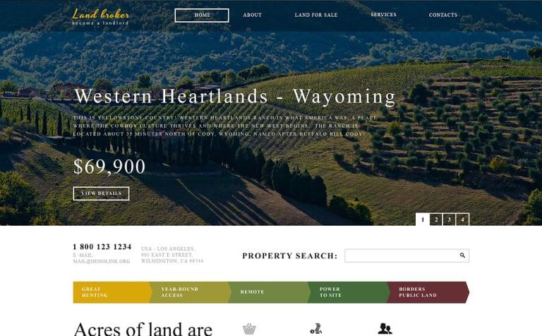 Land Broker Responsive Website Template