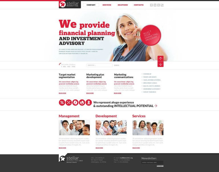 Marketing Agency Flash CMS Template New Screenshots BIG