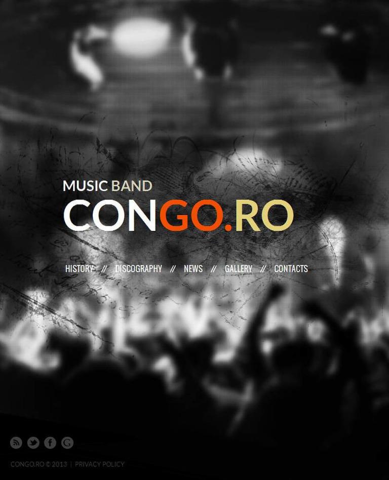 Music Band Facebook HTML CMS Template New Screenshots BIG