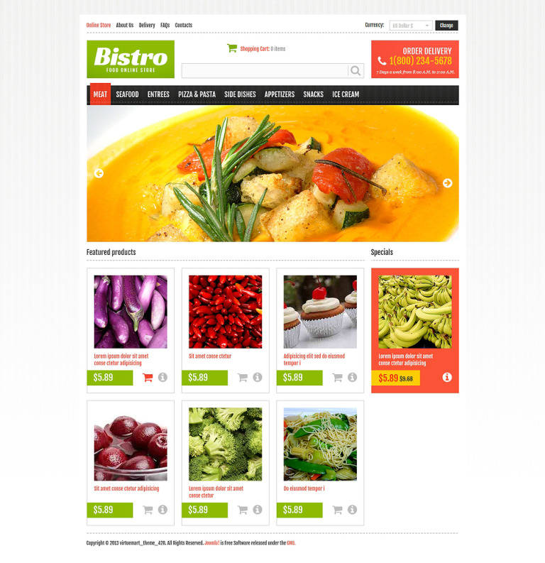 Online Food Store VirtueMart Template New Screenshots BIG