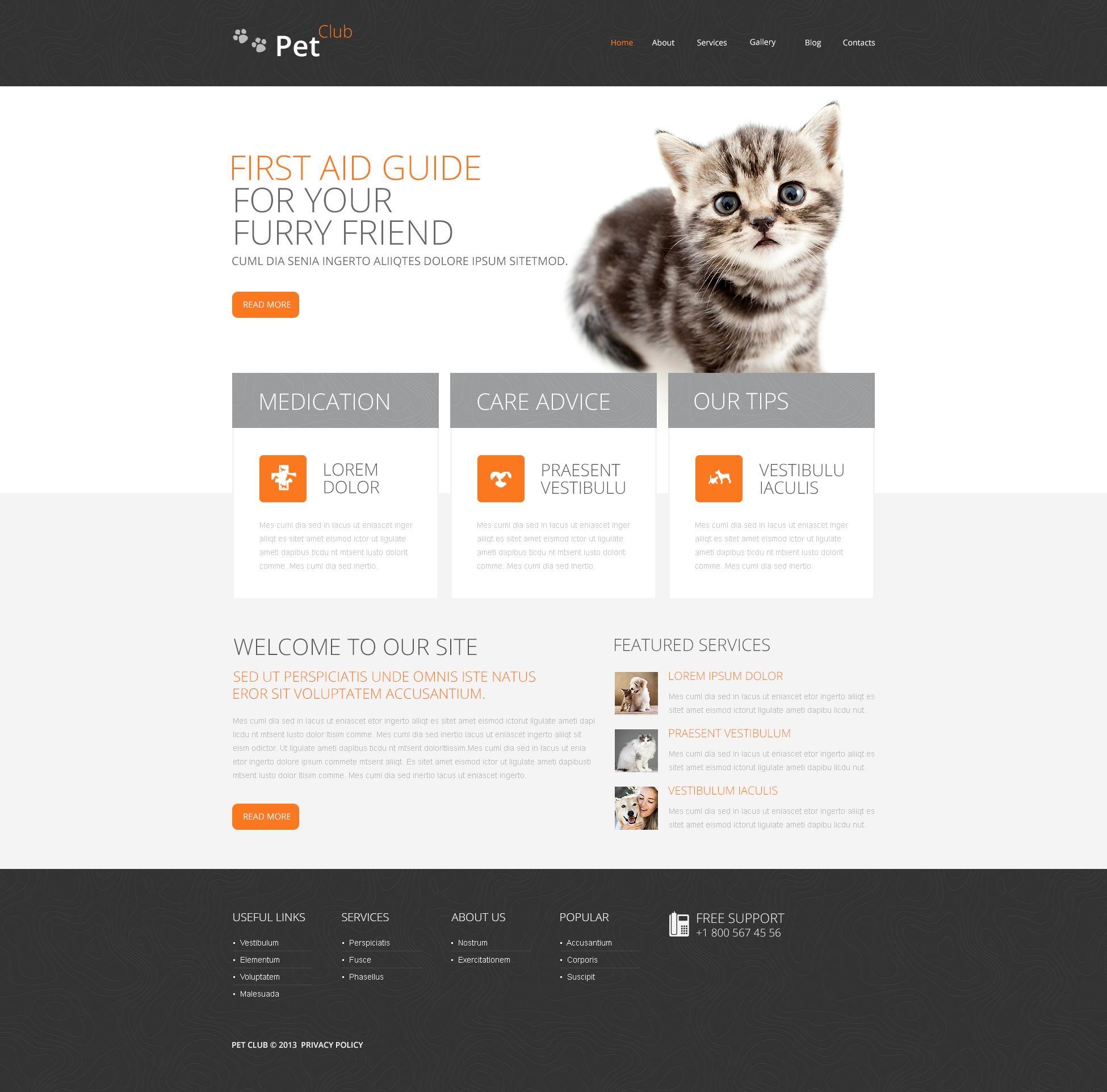 Pet Club Drupal Template - screenshot