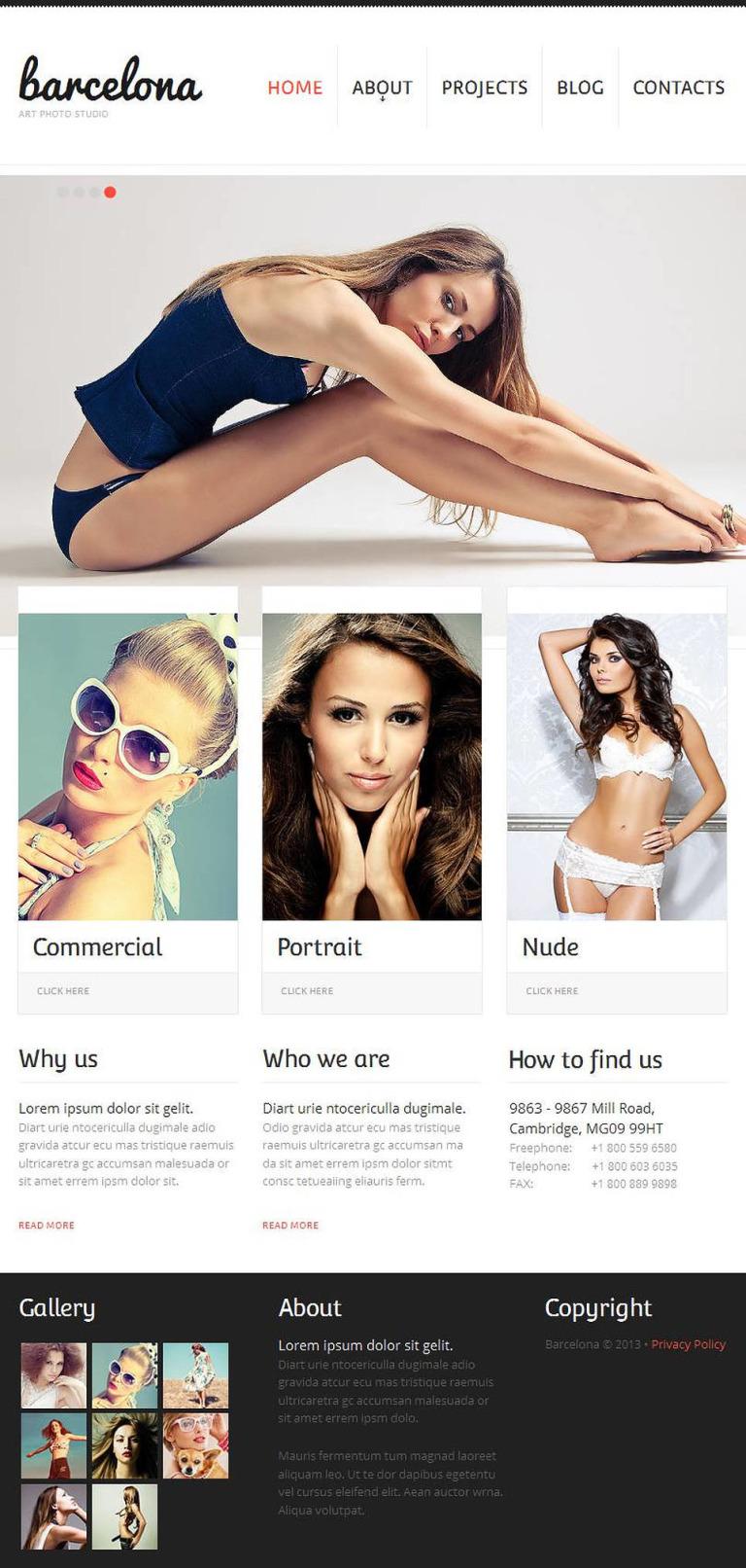 Photographer Portfolio Facebook HTML CMS Template New Screenshots BIG