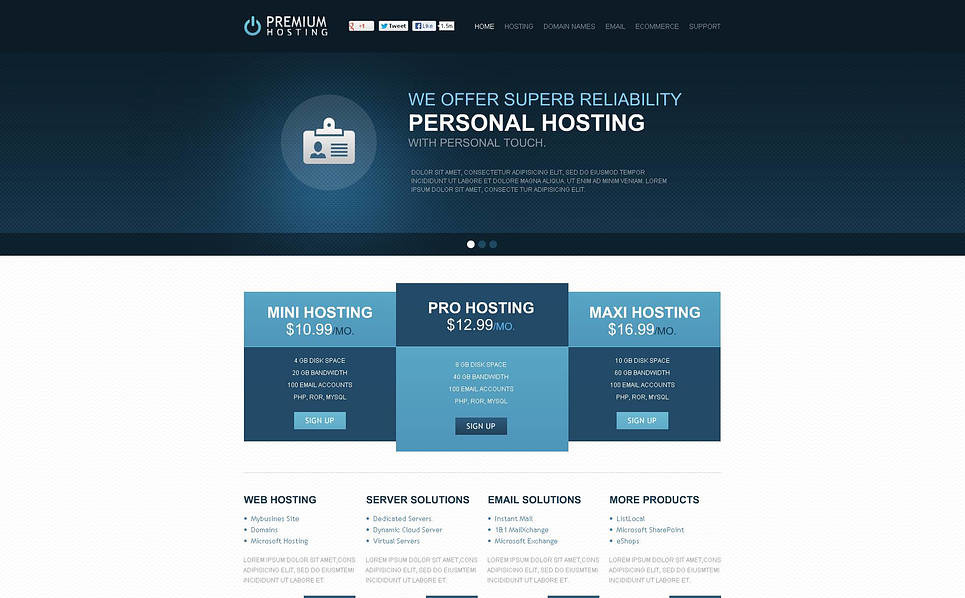 Plantilla Flash CMS #46676 para Sitio de Hosting New Screenshots BIG