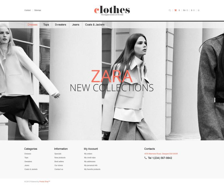 Responsive Clothes Store PrestaShop Theme New Screenshots BIG