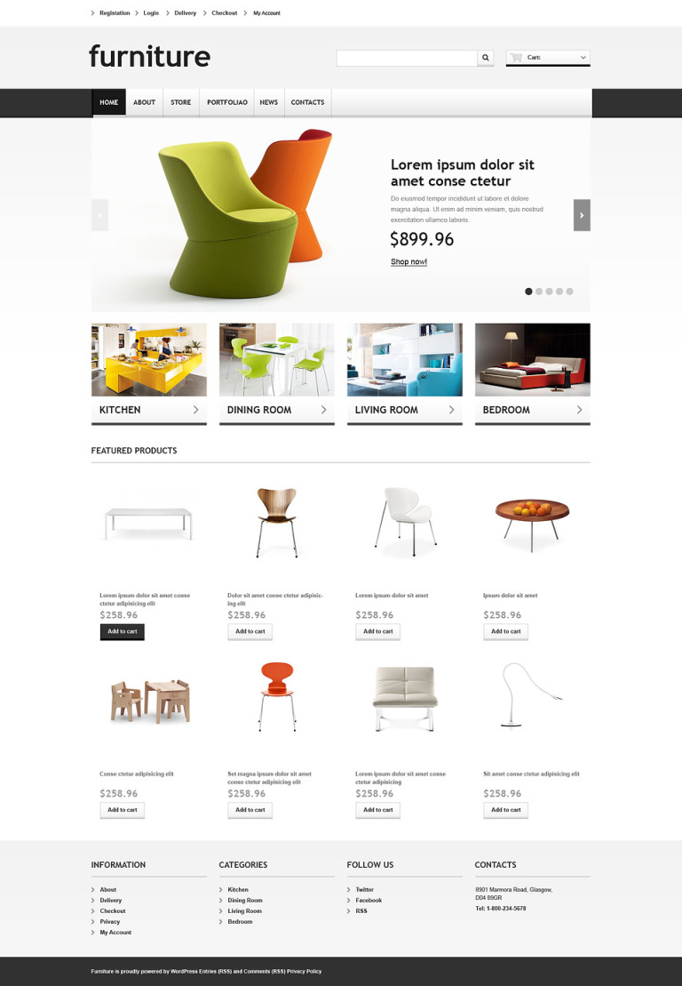 Responsive Furniture Store WooCommerce Theme New Screenshots BIG