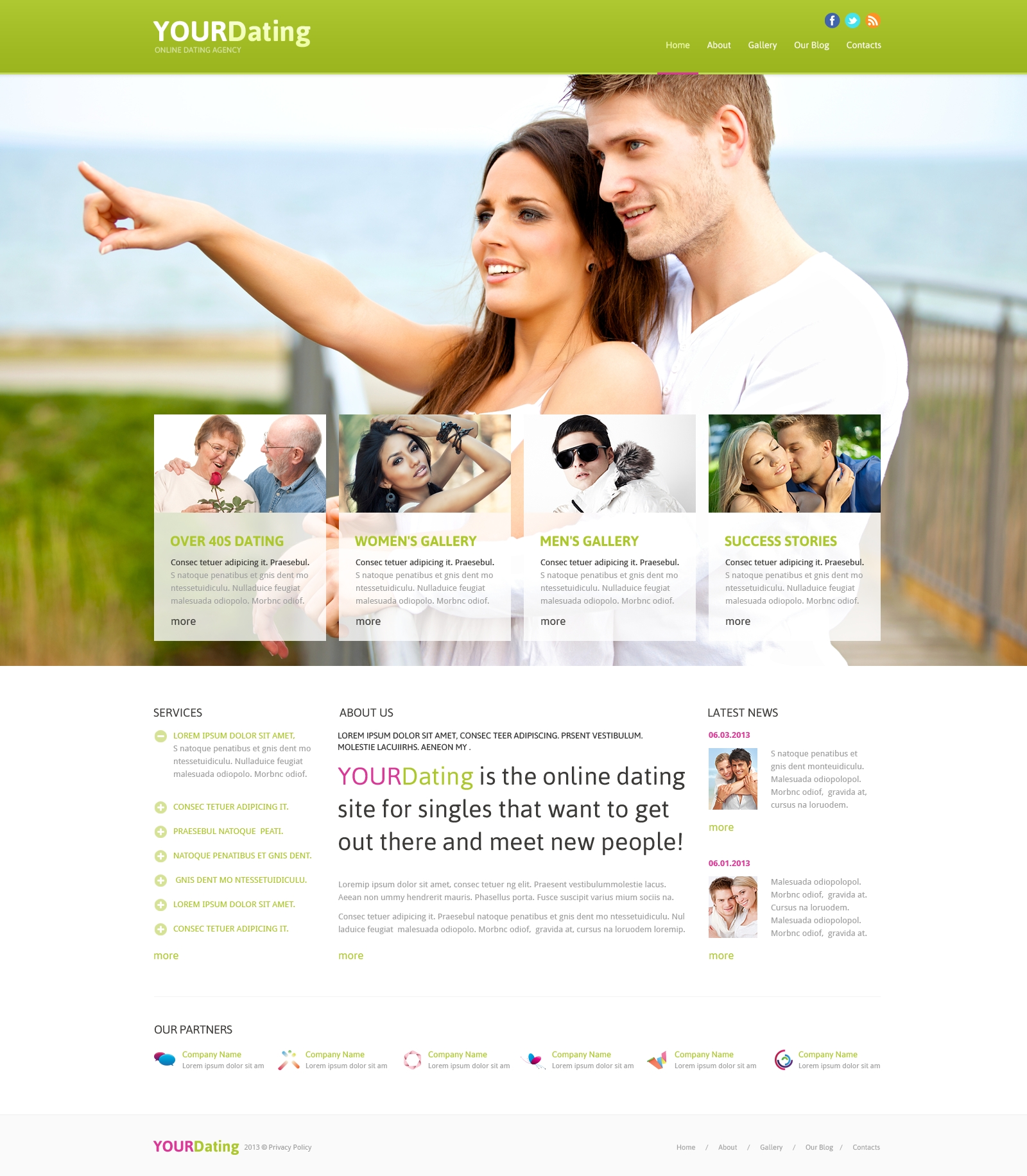 Responsive Joomla Template over Dating №46641 - screenshot