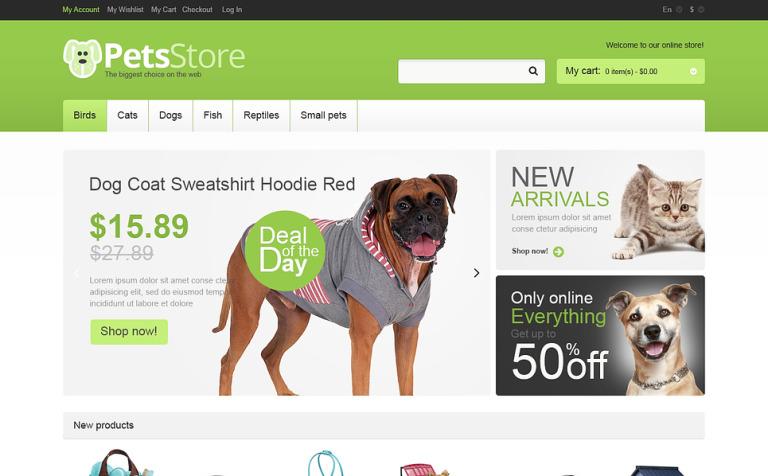 Responsive Pets Store Magento Theme