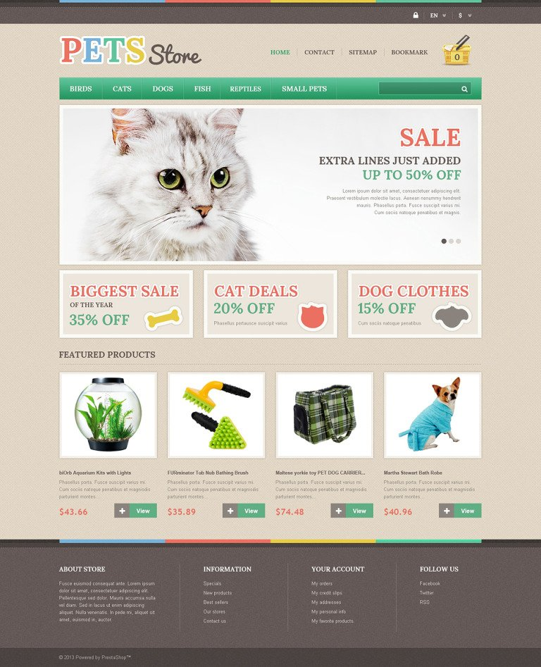 Responsive Pets Store PrestaShop Theme New Screenshots BIG