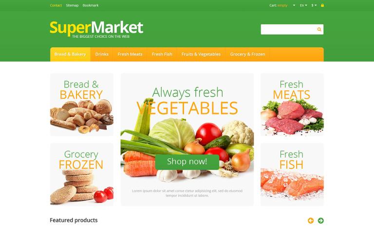 Responsive Supermarket PrestaShop Theme