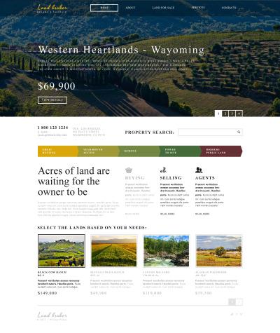 Land Broker Responsive Weboldal Sablon