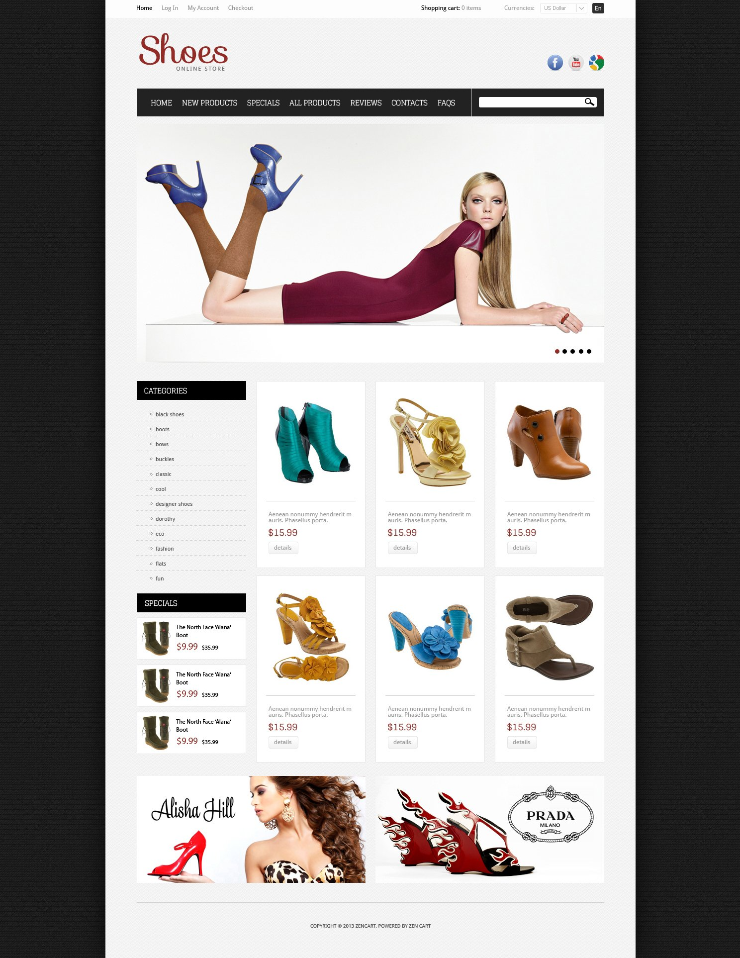 Shoes for Your Feet ZenCart Template