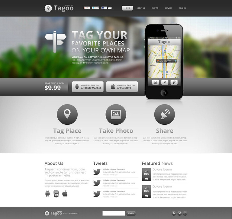 Software Company Flash CMS Template New Screenshots BIG