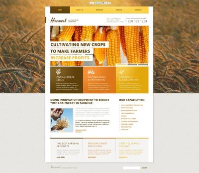 Szablon Flash CMS #46675 na temat: gospodarstwo rolne