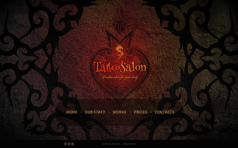 Tattoo Salon Website Template New Screenshots BIG