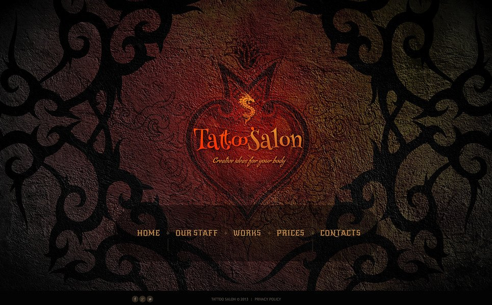 tattoo salon website template 46697. Black Bedroom Furniture Sets. Home Design Ideas