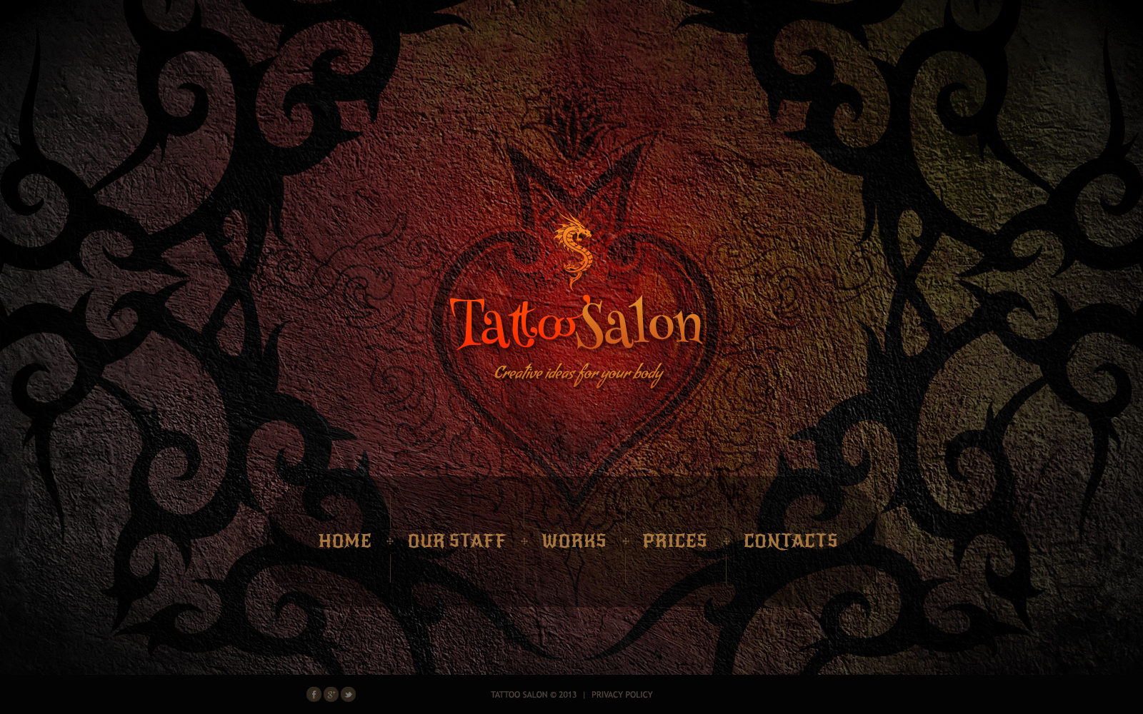 Tattoo Salon Website Template - screenshot