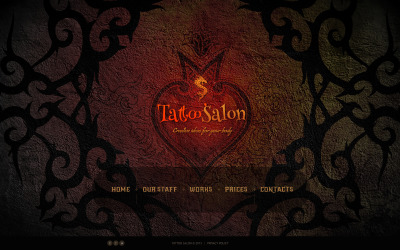 Tattoo Salon Website Template #46697