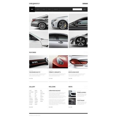 Template Flash CMS №46672 para Sites de Clube de Carros