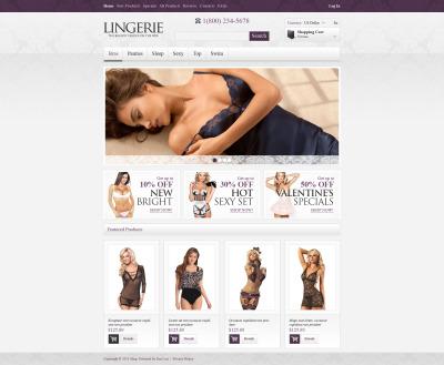 Thème Zen Cart  pour magasin de lingerie