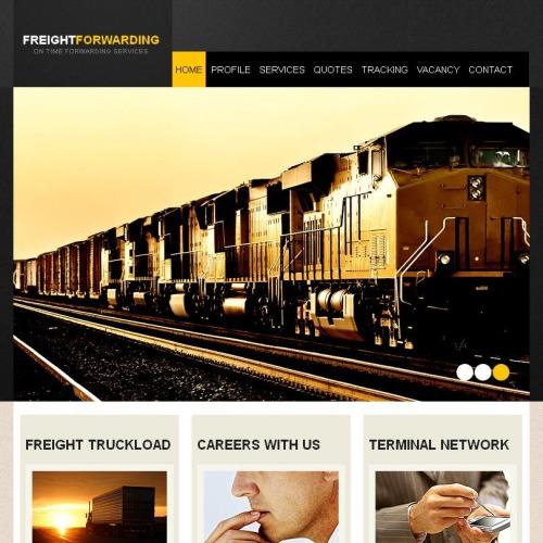 Freight Forwarding - Facebook HTML CMS Template