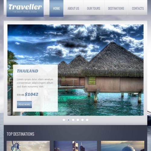 Traveller - Facebook HTML CMS Template
