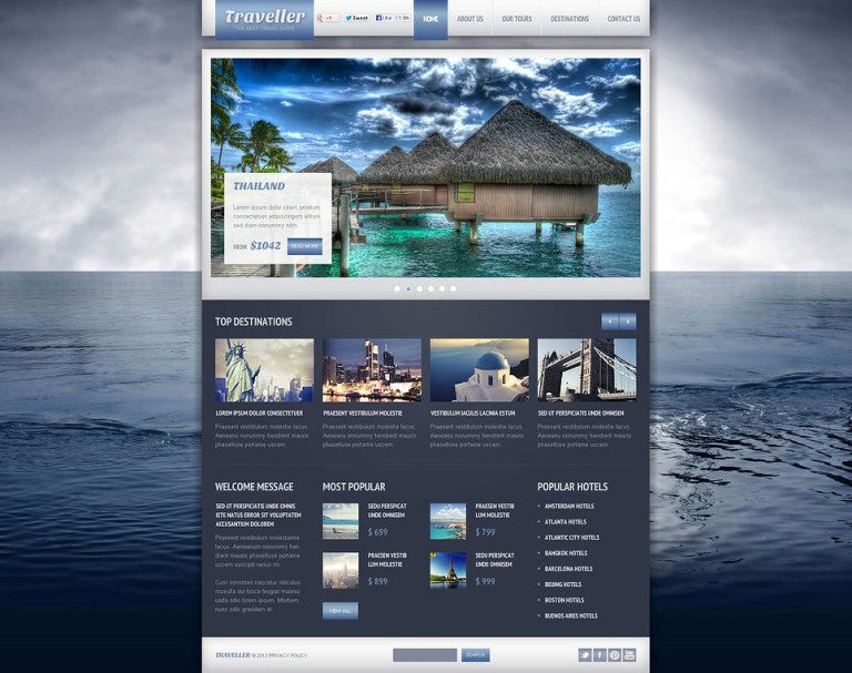 Travel Guide Flash CMS Template New Screenshots BIG