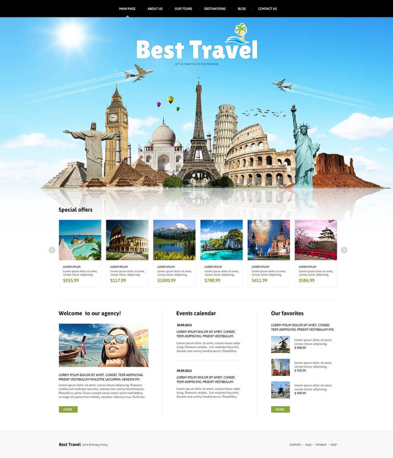 Travelling Joomla Template New Screenshots BIG