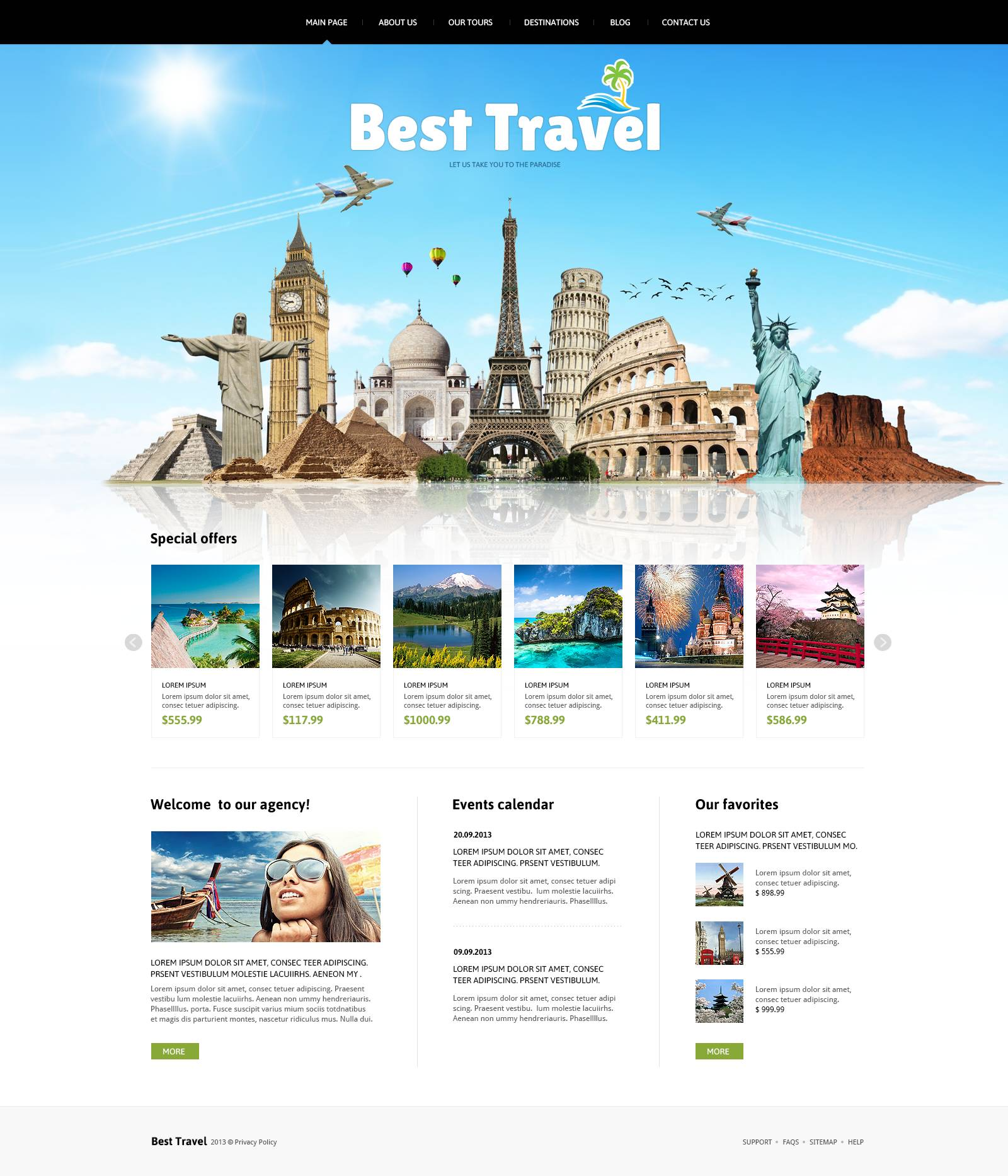 Travelling Joomla Template 46634