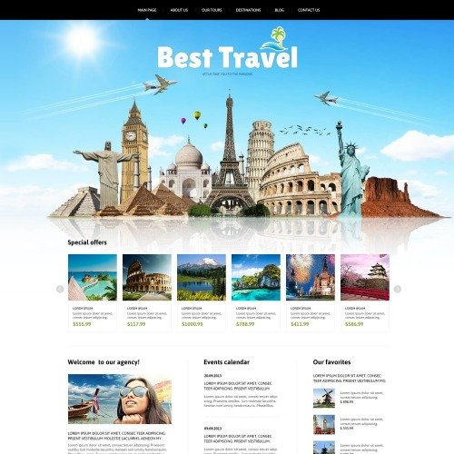 Best Travel - Travel Agency Template based on Bootstrap