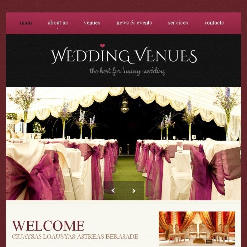 Wedding Venues - Facebook HTML CMS Template