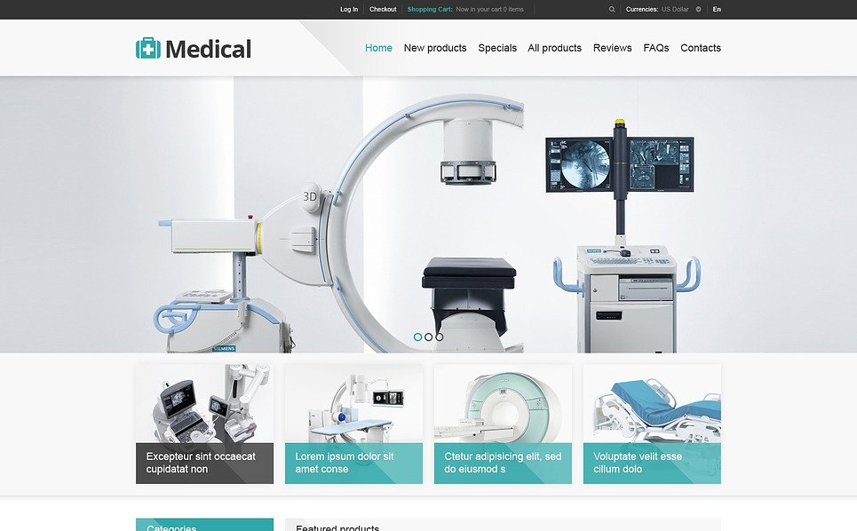 Template ZenCart  para Sites de Equipamento Médico №46702 New Screenshots BIG