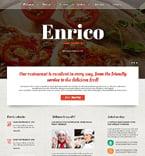 Cafe & Restaurant Joomla  Template 46707