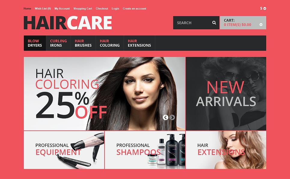 Responsive OpenCart Vorlage für Friseursalon  New Screenshots BIG