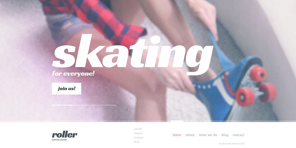 Bootstrap szablon strony www #46715 na temat: łyżwiarstwo New Screenshots BIG