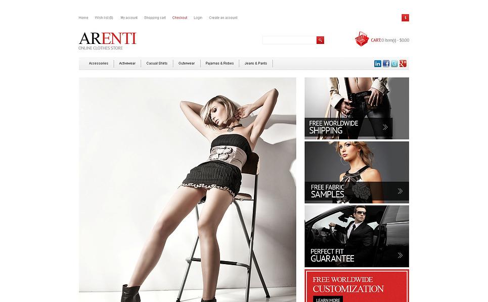Reszponzív Divatbolt  OpenCart sablon New Screenshots BIG