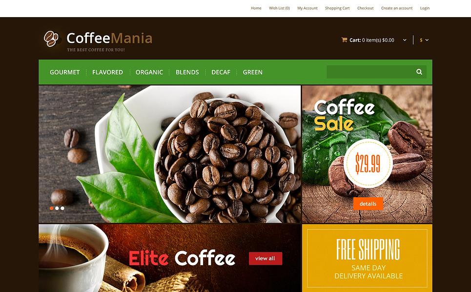 OpenCart šablona Coffeeshop New Screenshots BIG