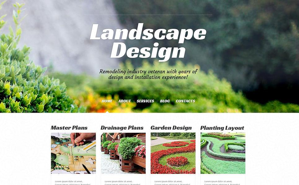 Reszponzív Tájtervezés   WordPress sablon New Screenshots BIG