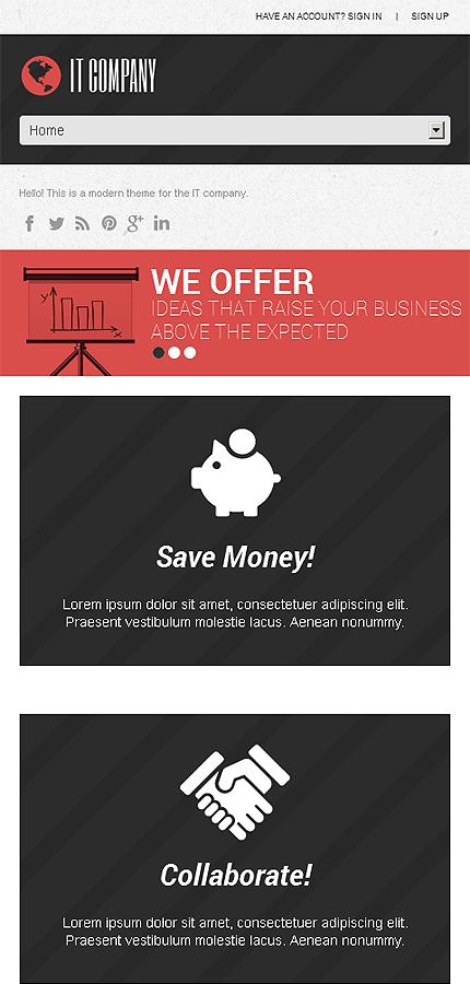 WordPress Theme/Template 46729 Main Page Screenshot
