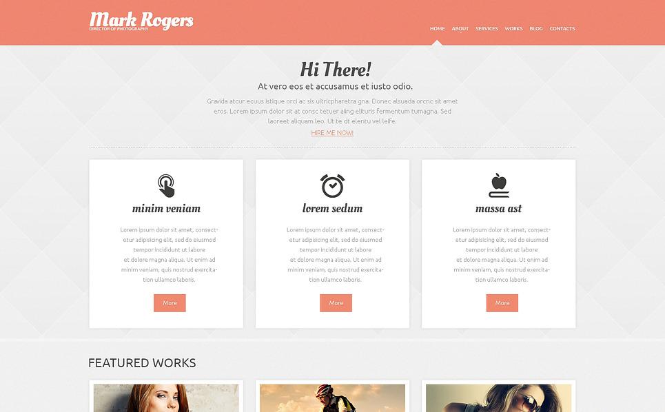 Thème WordPress adaptatif  pour portfolio de photographe New Screenshots BIG