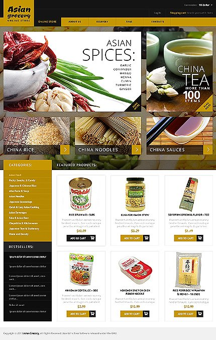 ADOBE Photoshop Template 46736 Home Page Screenshot