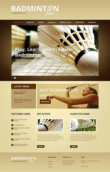 ADOBE Photoshop Template 46738 Home Page Screenshot