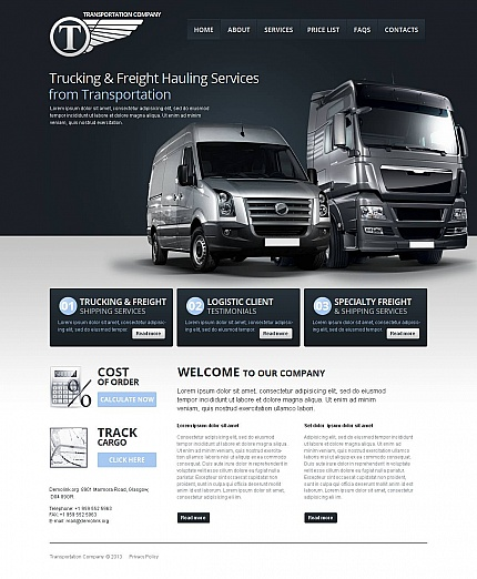 ADOBE Photoshop Template 46739 Home Page Screenshot