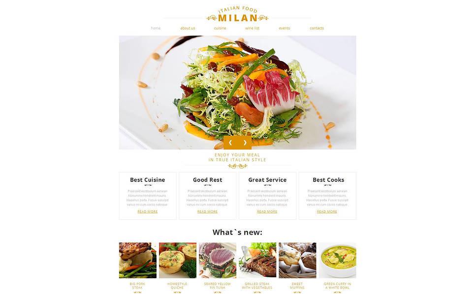 MotoCMS HTML шаблон №46740 на тему  европейского ресторана New Screenshots BIG