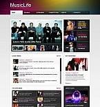 Music Moto CMS HTML  Template 46742